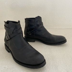 Frye crosstrap black tumbled leather
